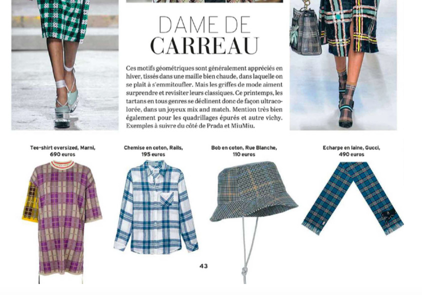 Rails Hunter blouse featured in Le Vif Weekend
