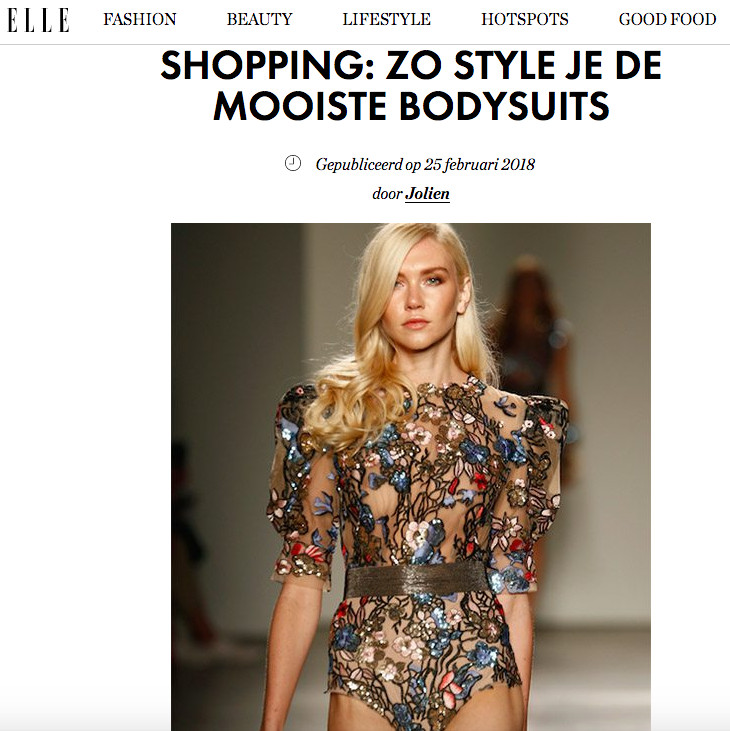 Beautiful Bronx & Banco bodysuit shown on the website of ELLE Belgium
