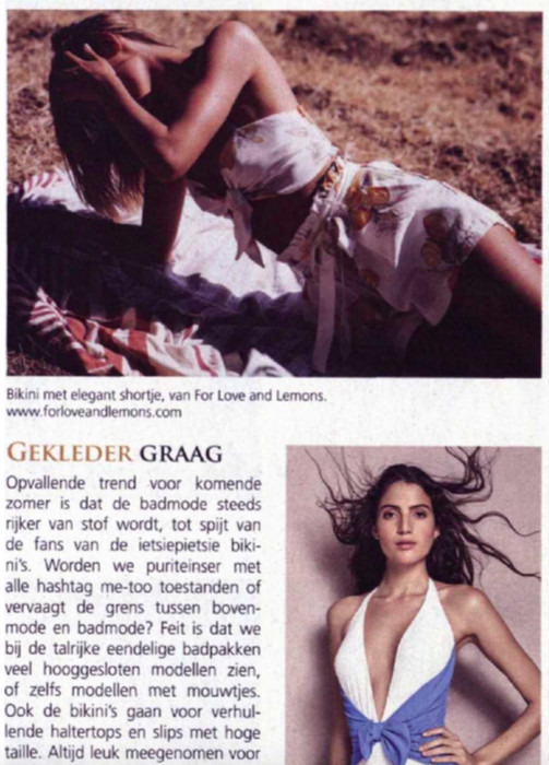For Love & Lemons swim collection shown in the half-yearly Shopping Magazine