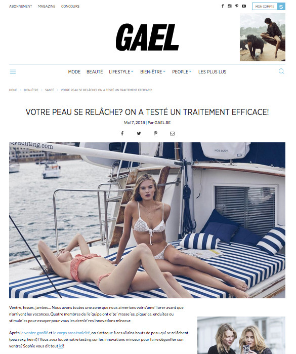 For Love & Lemons campaign image used on the website of Gael