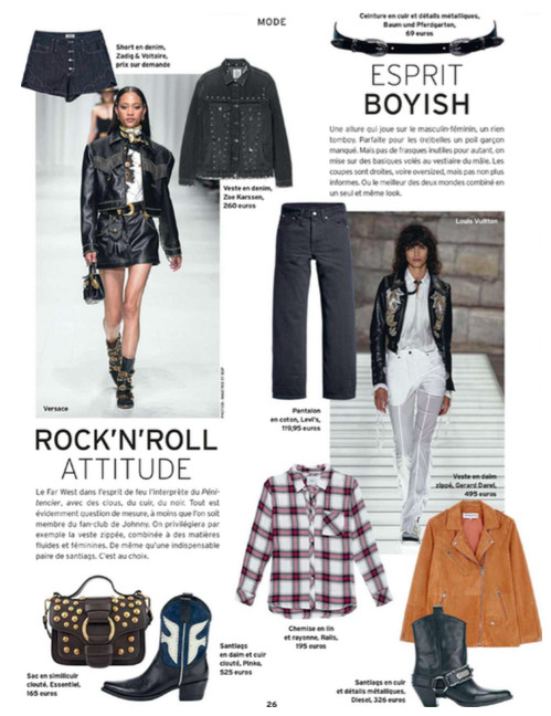 Checked Rails blouse shown in Weekend Le Vif