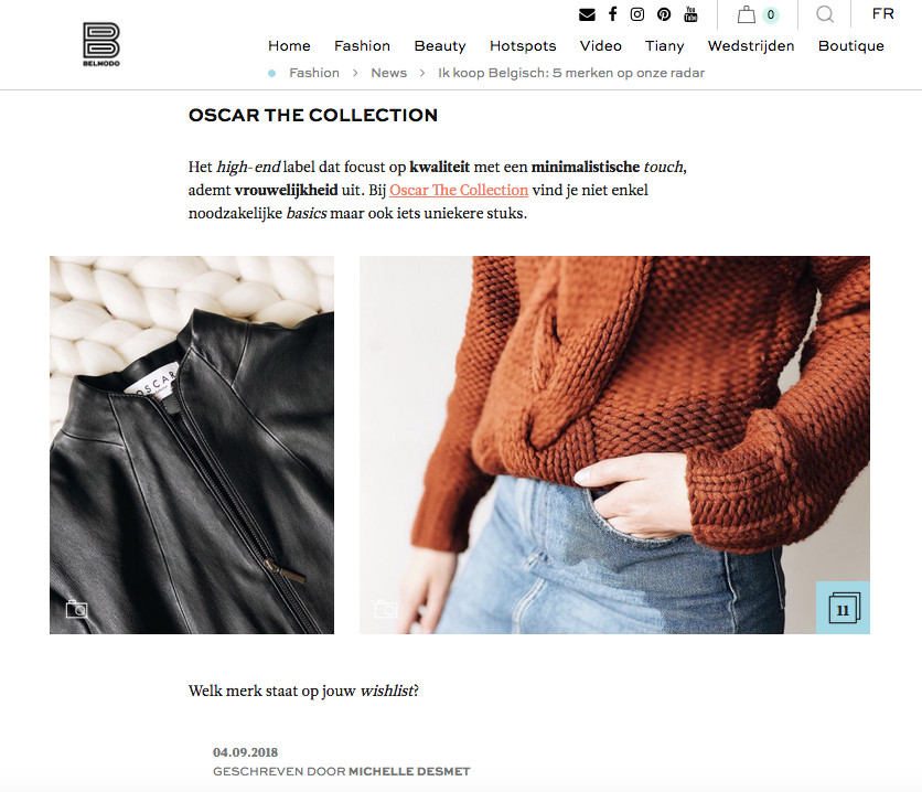 Oscar The Collection shown on Belmodo.be