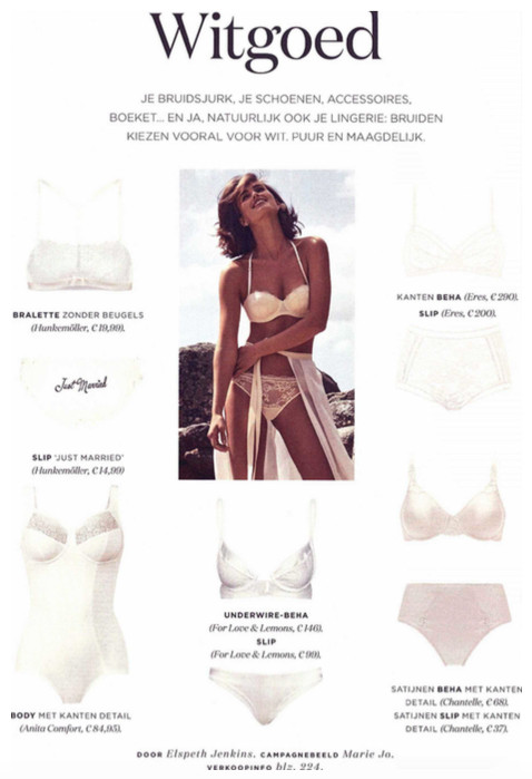 For Love & Lemons SKIVVIES shown in the half-yearly magazine Loving You