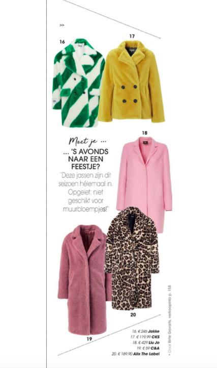 White-green Jakke featured in the monthly magazine Goed Gevoel & Vitaya
