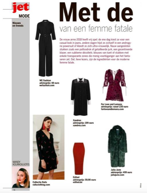 For Love & Lemons mini dress & Rails mini dress featured in Jet Magazine Limburg