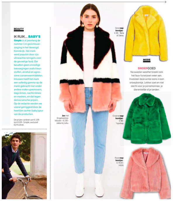 Multicolor Jakke featured in the weekly magazine Flair