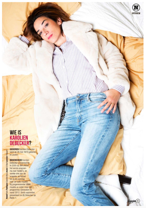 Rails blouse used for a shoot in Het Nieuwsblad Magazine