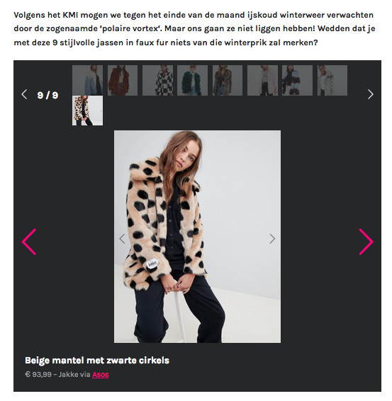 Faux fur Jakke featured on the website of Flair