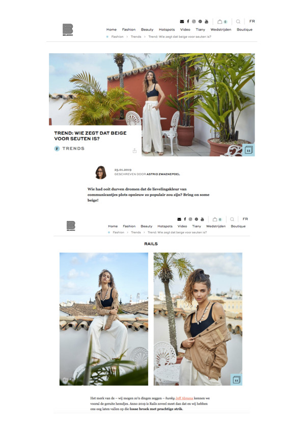 Rails campaign images featured on Belmodo.be